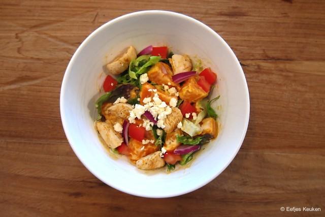 Zoete Aardappelsalade met kip